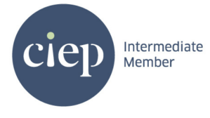The logo for Intermediate Members of the Chartered Institute of Editors and Proofreaders. CIEP membership is a mark of quality.